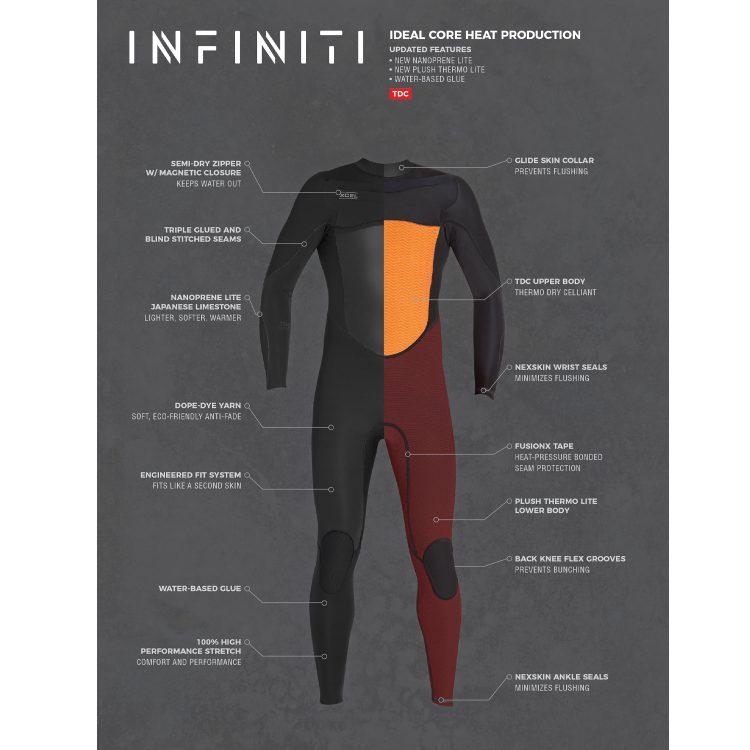 Overige merken Xcel Infiniti 5/4 chestzip